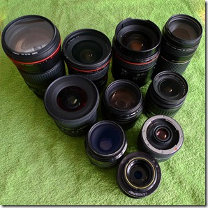 Lens cleaning line-up